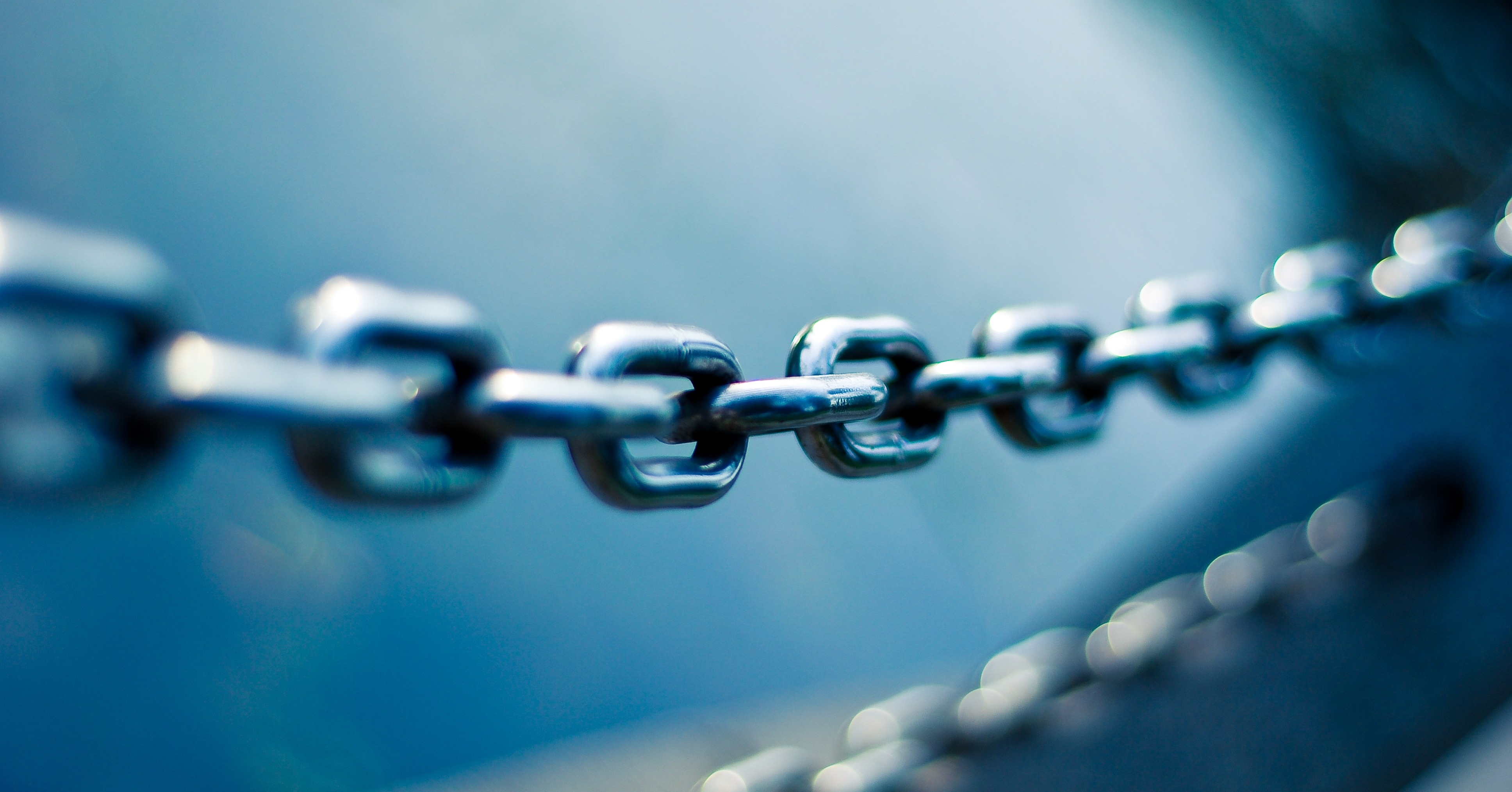 a close-up of a chainlink fence